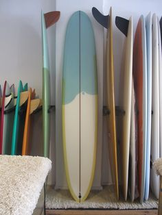 Single fin retro boards are so rad. #surfboards #longboard #bluesurfboard