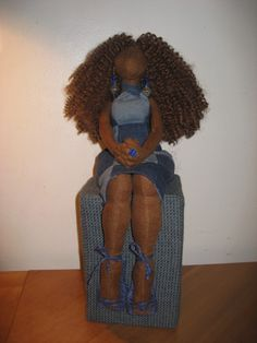 BEAUTIFUL DOLLS BY ARTIST TANYA MONTEGUT VIA BLACK CRAFTERS GUILD