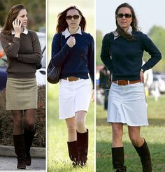 As the most educated British royal woman, Kate wears the preppy look perfectly. She doesn't look like a nerd at all. Instead, she looks like a really smart well-mannered girl-next-door.