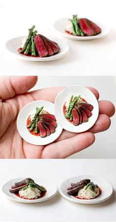Sliced Steak dollhouse miniature