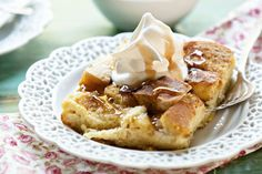 Christmas breakfast! French toast casserole prepare the night before and pop in the oven the next morning.
