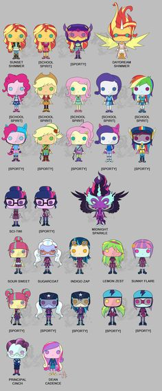 Finally done the pop forms of Friendship Games Mane 6, including Sci Twi and the Shadowbolts. God Daydream and Midnight turns out soooo good. Hasbro and Funko seriously need to make this happen!! N...