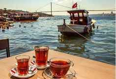Istanbul ve Cay Turkish Coffee Cups, Turkish Tea, Wonderful Places, Beautiful Places, Visit Turkey, Istanbul Travel, Coffee And Books, Istanbul Turkey, Okinawa