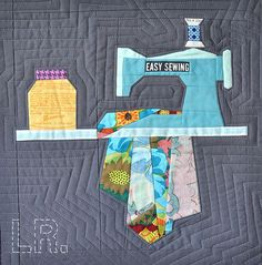 Paper Pieced Mini Quilt - LRstitched | Lindsey Rhodes