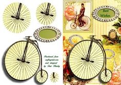 penny farthing on Craftsuprint - Add To Basket!