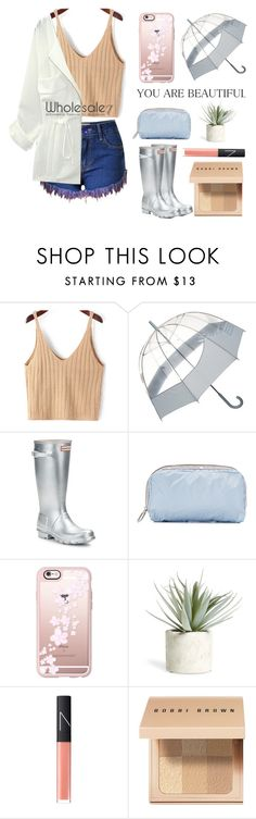 """""""It's a raining day"""" by lee77 ❤ liked on Polyvore featuring Hunter, LeSportsac, Casetify, Allstate Floral, NARS Cosmetics, Bobbi Brown Cosmetics and modern"""