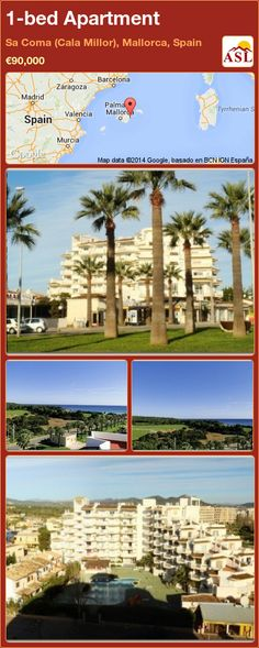 1-bed Apartment in Sa Coma (Cala Millor), Mallorca, Spain ►€90,000 #PropertyForSaleInSpain