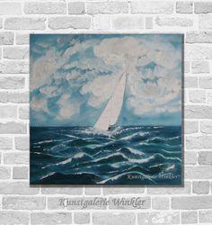 Acrylmalerei - Neu Kunst Malerei Acrylbild Maritim Unikat - ein Designerstück von Kunstgalerie-Winkler bei DaWanda