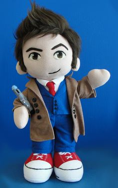 The Doctor is in! A Tenth Doctor, Doctor Who plush! Its so cute!
