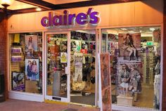 claires store. I could look in this store everyday. Such cool stuff in here.