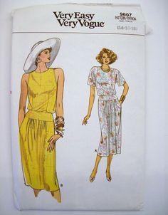 VTG Vogue Womens Blouse Skirt Dress Sewing Pattern Misses Size 14 16 18 UNCUT #Vogue #cocktailofficebusinesscasualday