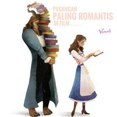 Beast and Belle? Jack and Rose? Rangga dan Cinta? Tao Mingshi dan Sanchai? Siapa Ladies yang paling romantis menurutmu?  Pic: Pinterest, Disney  #vemaledotcom #ruangvemale #sharingajasis #vemalelove #vemalefun #march #good2share