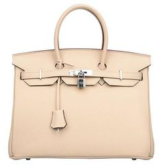Ainifeel Women's Padlock Handbags with Silver Hardware (35 cm, Light taupe)   #love  @shoppevero @amazon #shoppevero