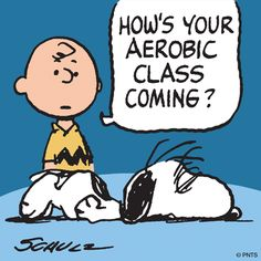 Snoopy after his workout.