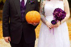 wedding jack'o'lantern-October Wedding!