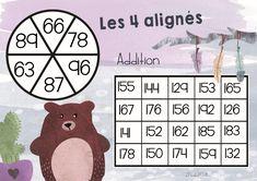 Les 4 alignés jeu mathématique
