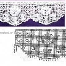 Lace Edging Crochet Patterns Part 2 - Beautiful Crochet Patterns and Knitting Patterns Crochet Boarders, Crochet Edging Patterns, Filet Crochet Charts, Crochet Lace Edging, Crochet Diagram, Crochet Stitches, Knitting Patterns, Tutorial Crochet, Crochet Anchor
