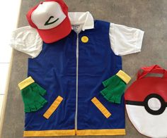 Pokemon Ash Cosplay Costume