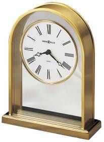 Exceptionnel Arched Brass Finish Tabletop Clock | 613118 Howard Miller