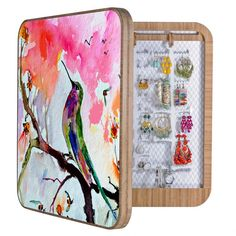 Ginette Fine Art Hummingbird In Spring BlingBox | DENY Designs Home Accessories