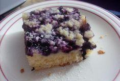 Kynutý táč s ovocem a drobenkou Blueberry Crumble Cake, Dessert Recipes, Desserts, Quiche, Acai Bowl, Oatmeal, Vanilla, Muffin, Tacos