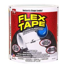 FLEX TAPETM is a super strong, rubberized, waterproof tape that can patch, bond, seal and repair virtually everything! FLEX TAPETM is specially formulated with a thick, flexible, rubberized backing that conforms to any shape or object! | eBay!