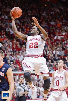 Stan Robinson at Indiana's 56-46 win over Illinois on Sunday at Assembly Hall    #IUCollegeBasketball