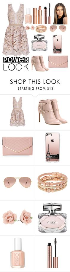 """""""Untitled #30"""" by tasneemkm ❤ liked on Polyvore featuring Valentino, Sasha, Casetify, Ray-Ban, Henri Bendel, 1928, Gucci, Essie, Charlotte Tilbury and powerlook"""
