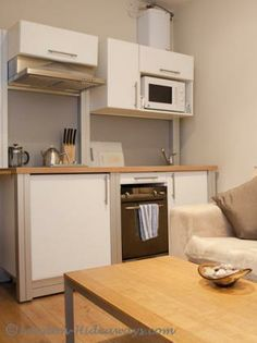 This holiday apartment offers a calm escape from the wayward world. Furnished Apartments, Rental Apartments, London Apartment, Holiday Apartments, One Bedroom, Calm, Furniture, Home Decor, Homemade Home Decor
