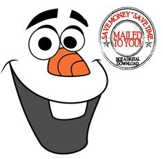 Disney Frozen Olaf Halloween hierro en por DesignsByBrinley en Etsy