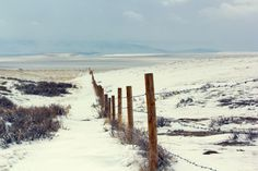 Snow on the Prairie.  Casper, Wyoming