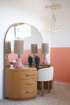A Color Blocked Girl's Bedroom Home Bedroom, Bedroom Decor, New Wall, Room Inspiration, Interior Inspiration, House Rooms, New Room, Decoration, Home Furniture