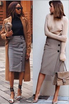 Wear to Work Outfit Ideas. Womens Casual Office Fashion ideas and dresses. Womens Work Clothes Trending in 34 Outfit ideas. Mode Outfits, Office Outfits, Stylish Outfits, Office Attire, Preppy Skirt Outfits, Black Outfits, Work Attire, Pretty Outfits, Office Fashion