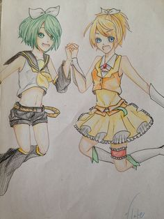 Rin & GUMI Rin always wears her bow =W= outfit swap