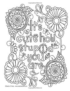 Cheaper than Therapy: An Irreverently Snarky Adult Coloring Journal (Irreverent Book) (Volume Coloring Pages For Grown Ups, Detailed Coloring Pages, Love Coloring Pages, Printable Adult Coloring Pages, Coloring Books, Coloring Sheets, Coloring Pages Inspirational, Stress, Therapy