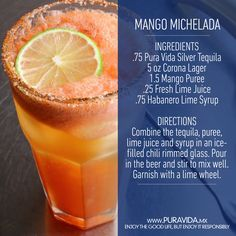 Yummy #Mango #Michelada #cocktail #recipe to savor summer with