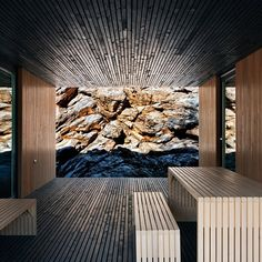 A cabin nestled in a former Hungarian quarry