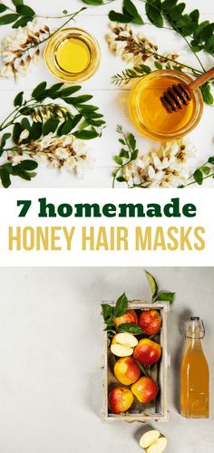 I wanted to make my hair healthier while promoting growth, and honey hair masks made a huge difference! These are 7 recipes for homemade hair masks I tried. #honey #hairmasks #hairgrowth