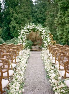 Chateau Lill Wedding inspiration in Woodinville from Seattle Wedding Florist Gather Design Company Green Wedding, Floral Wedding, Small Garden Wedding, Small Elegant Wedding, Wedding Isle Flowers, Small Wedding Decor, Aisle Flowers, Early Spring Wedding, Spring Weddings