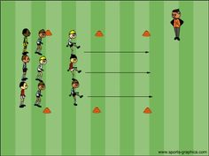Practical soccer warm ups and tips for coaches and kids age groups U6 - U12.