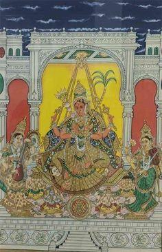 Yashoda Krishna, Krishna Hindu, Shiva, Mysore Painting, Madhubani Painting, Traditional Paintings, Traditional Art, Ganesha, Indian Art