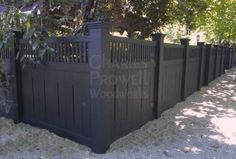 "Craftsman Fence by Charles Prowell. Each panel made separately. $850/panel up to 42"" or $1000/panel up to 72"""