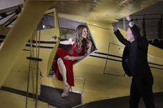 Airplane Hangar Engagement Photos | Altf Photography | Reverie Gallery Wedding Blog