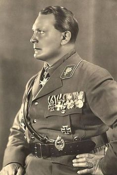 After Hitler the second men in Nazi Germany Field Marshal of the Luftwaffe and Chief of Staff of the Luftwaffe ,Reich Minister of Economic Affairs and President of the Reichstag.weaknesses :had built No heavy bombers with great range ; TheWar industry was insufficiently mobilized;Worked corruption in hand ; The blind eye to the consequences of his failing air defense; The empty promise that he could supply from the air the 6th Army in Stalingrad and the Afrika Korps