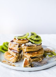 Fluffy Gluten-Free Pancakes with Warm Coconut Butter.