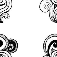 Pattern preto e branco