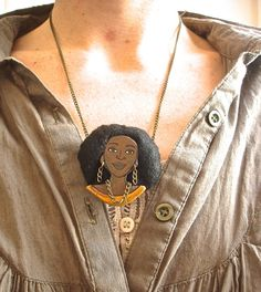 Wood Necklace  ADAORA GroovyDoll by LuceCultura on Etsy, €16.00