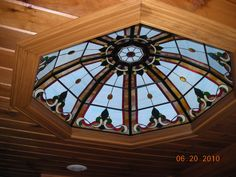 The stained glass dome in my kitchen ceiling that I made.