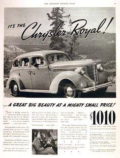 1938 Chrysler Royal.