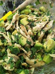Spicy Chicken, Cilantro and Avocado Salad with Lime Dressing! | the Seattle Cook